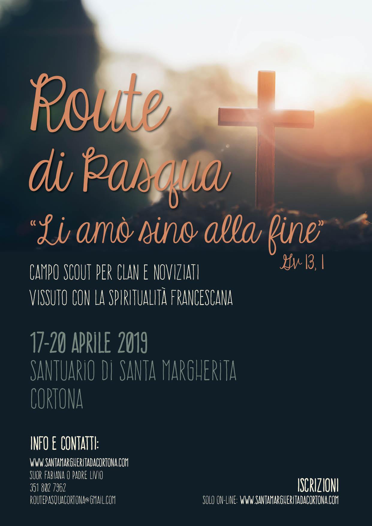 esperienza di fede con i frati francescani di Santa Margherita di Cortona per clan e noviziati scout agesci